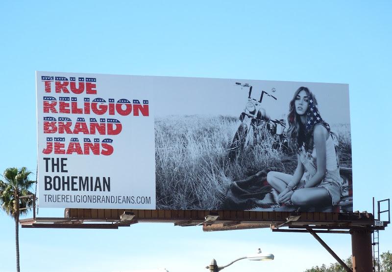 True Religion Bohemian billboard