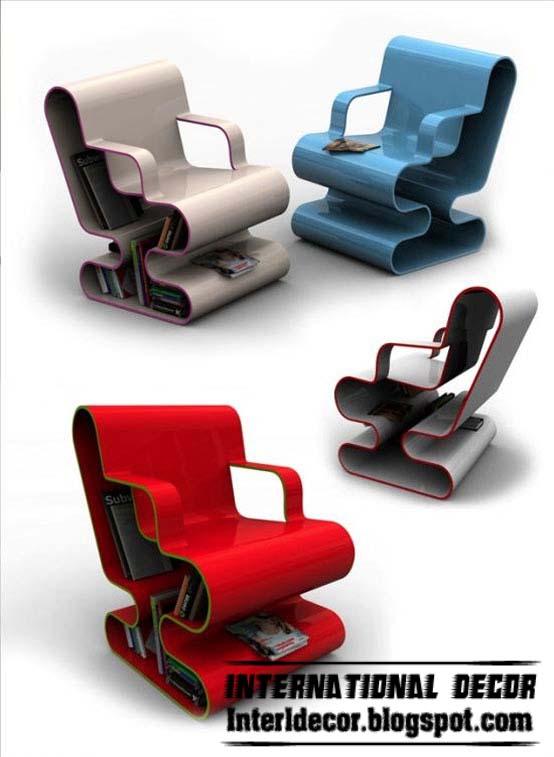 Interior Decor Idea: Contemporary chairs bookcase furniture