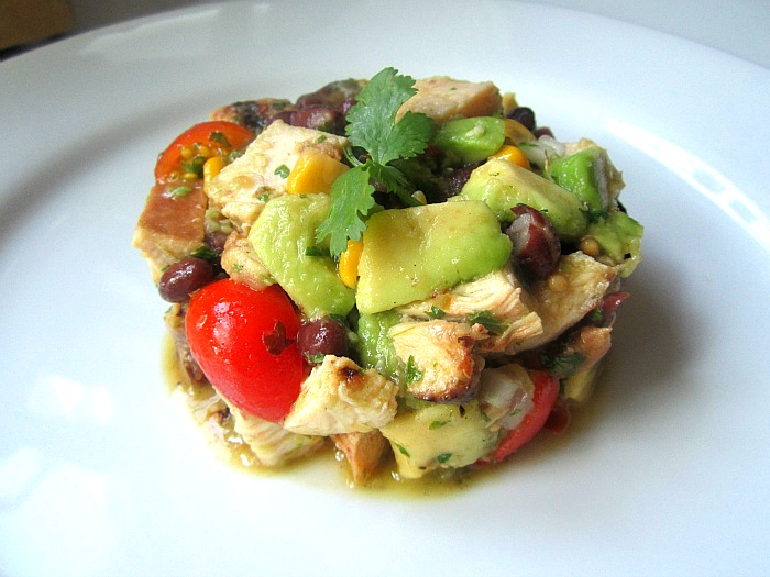 ... What's for Lunch? Southwestern Chicken Salad w/ Avocado & Black B...