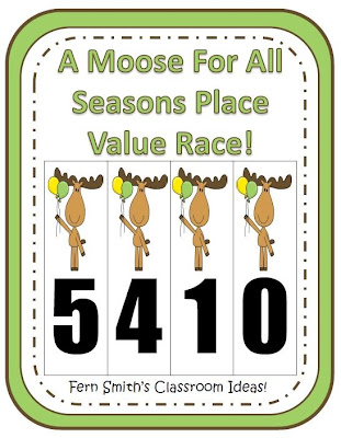 Fern Smith's FREE A Moose For All Seasons Place Value Race