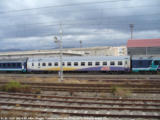 Ferrovie in calabria ottobre 2011 - Trenitalia vagone letto ...