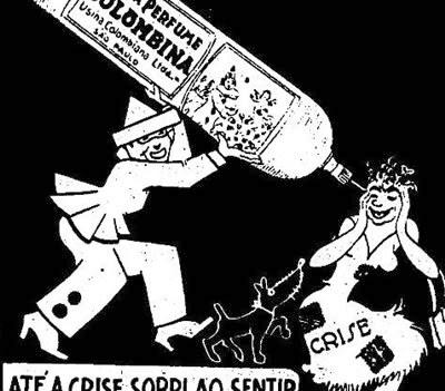 Propaganda do Lança Perfume Colombina para o Carnaval de 1936.
