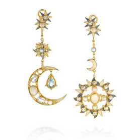 Percossi-papi-gold-plated-earrings-sun-moon