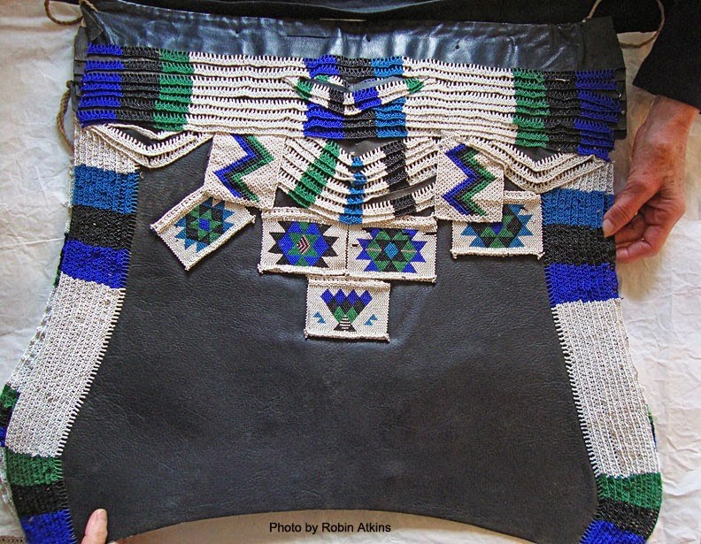 South African Zulu beadwork - man's apron