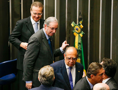 Cunha discute impeachment com ministro do Supremo