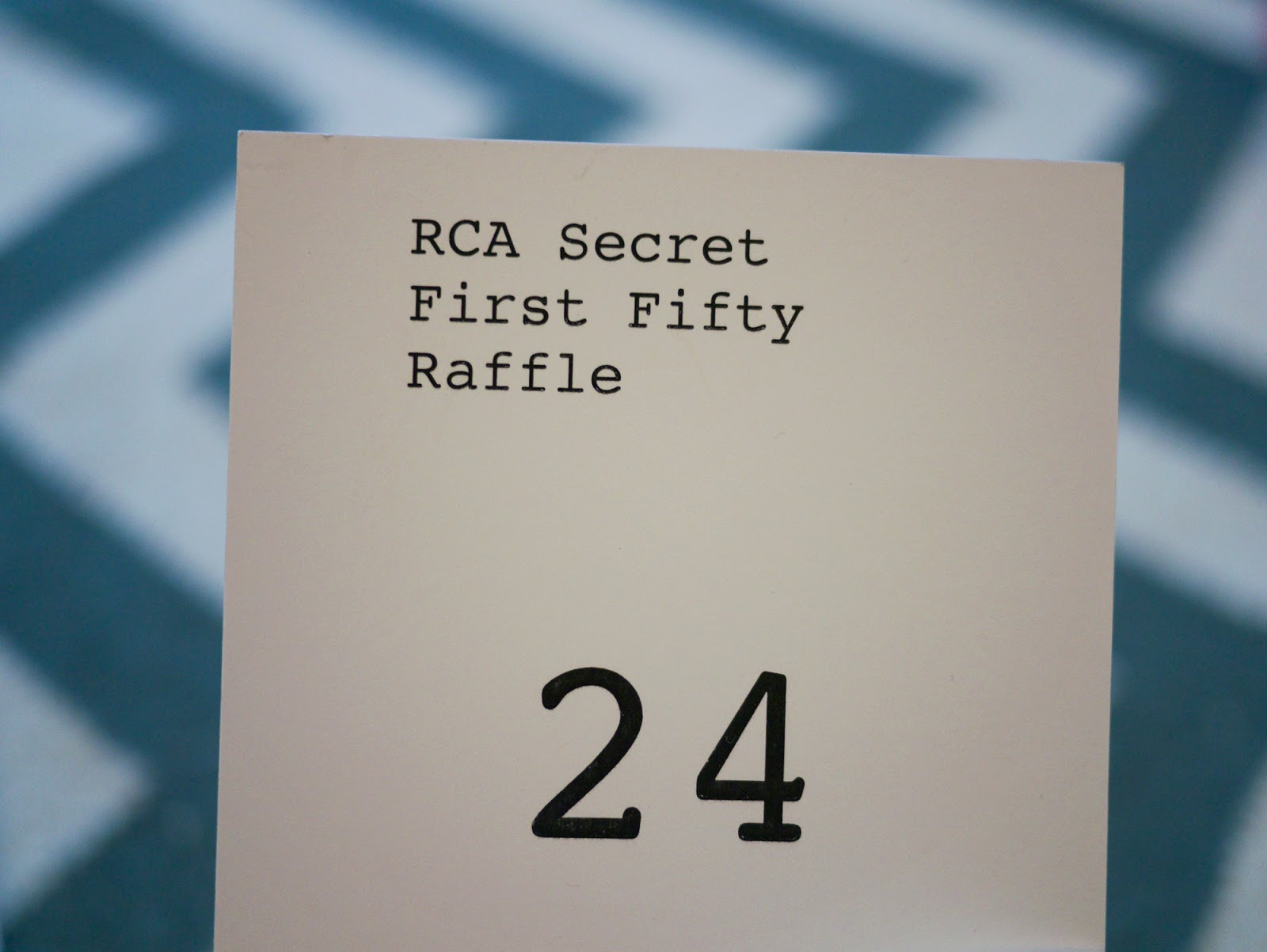 Royal College of Art RCA Secret postcard sale 2013 first fifty