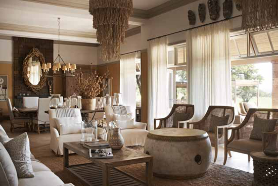 Safari Fusion blog | Singita Serengeti House | A perfect bush retreat, organic, stylish and filled with beautiful African art, crafts and handcrafted pieces
