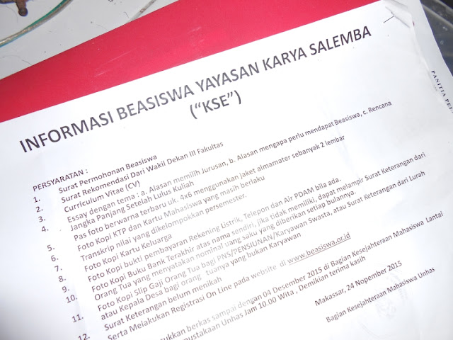 Informasi Beasiswa Yayasan Karya Salemba