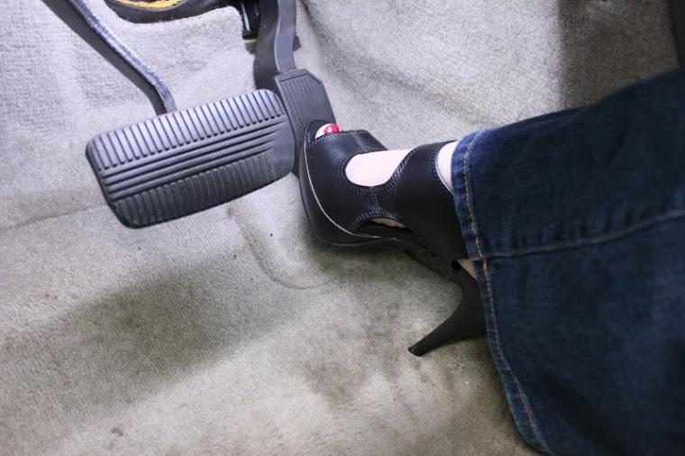 Pedal Pumping Flooring : Women flooring gas pedal barefoot hot girls wallpaper