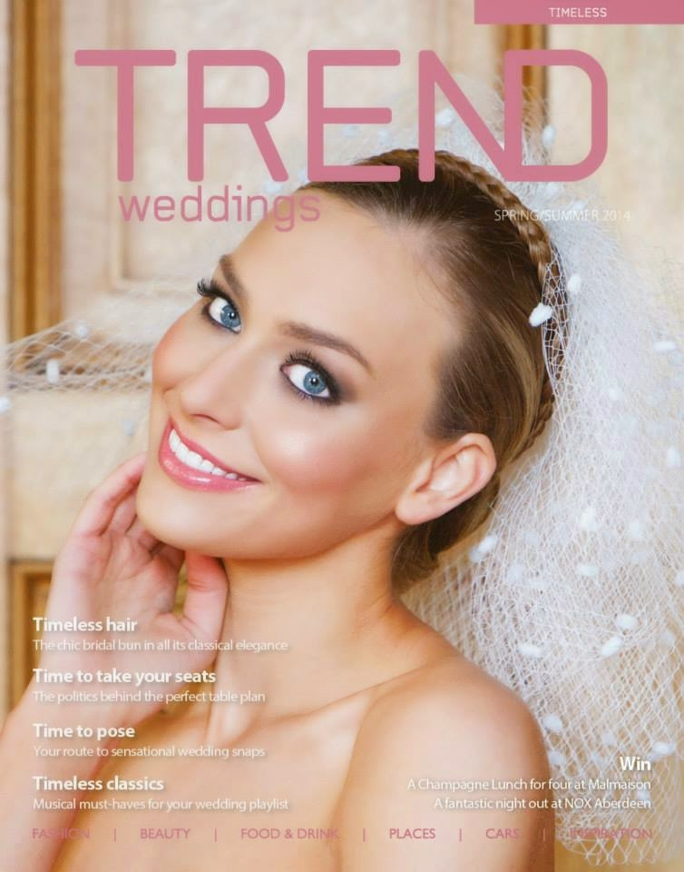 Bridal shoot for Trend Wedding Magazine at Cluny House, Aberdeenshire. Makeup by Rae Mathieson, Hair by Louise Chrystal.