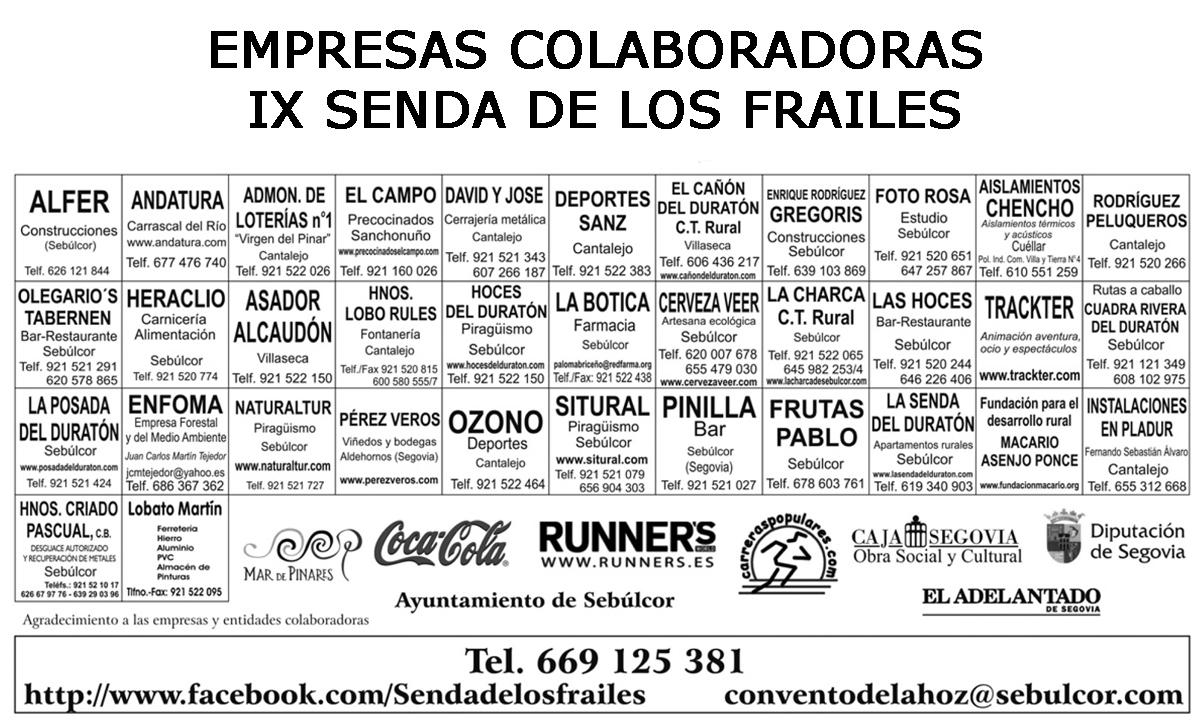 Amigos del convento de la hoz septiembre 2012 - Empresas colaboradoras ...