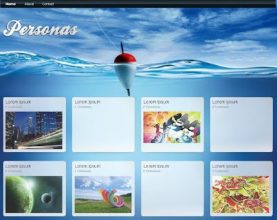 Personas Photo Blog Template