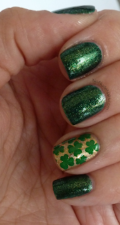 shamrock nail art, st patrick's day nail art