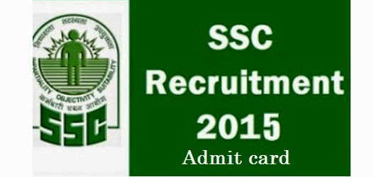 SSC Constable GD PET/PST Physical Test Call letter/Admit Card 2015
