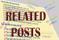 """Tạo """"Bài viết liên quan"""" theo Categories cho Bloggerby: http://namkna.blogspot.con/"""