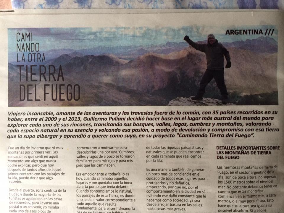 Nota en el Diario La Tercera
