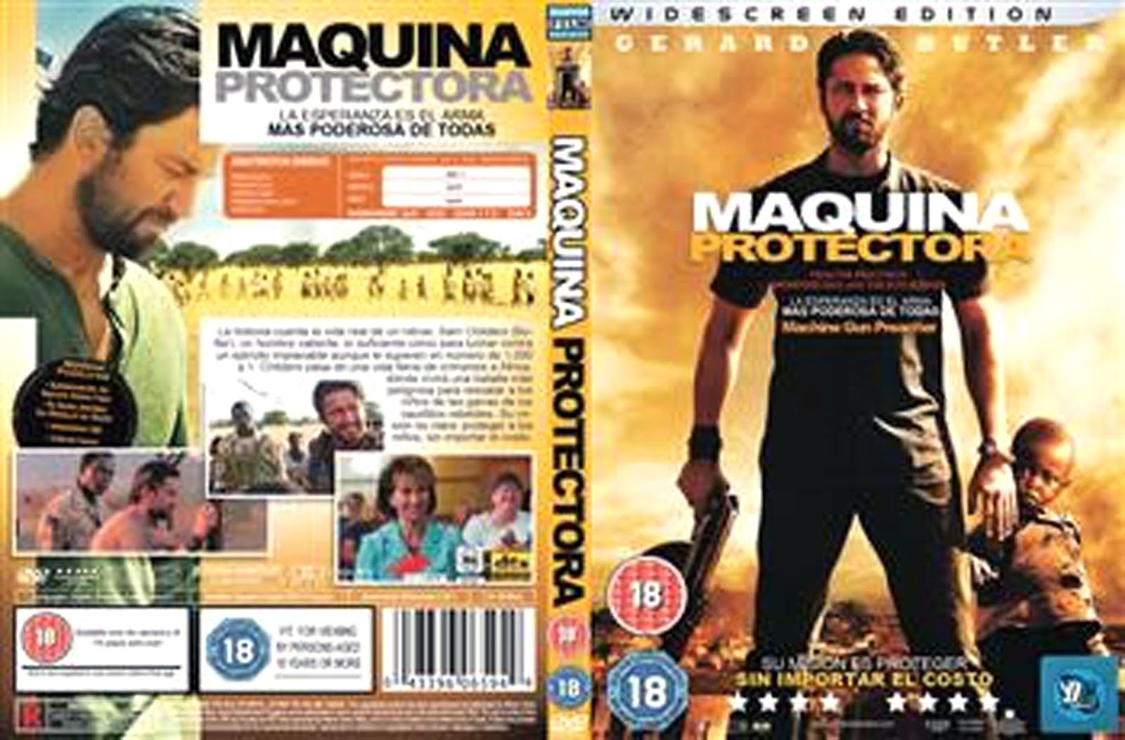 Maquina Protectora Machine Gun Preacher DVD Cover