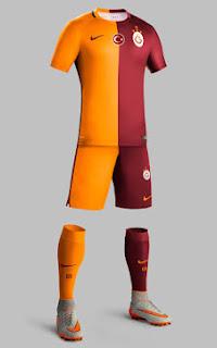 gambar detail jersey musim depan Detail gambar celana dan kaos kaki jersey Galsataray home terbaru musim depan 2015/2016 di enkosa sport toko online jersey terpercaya