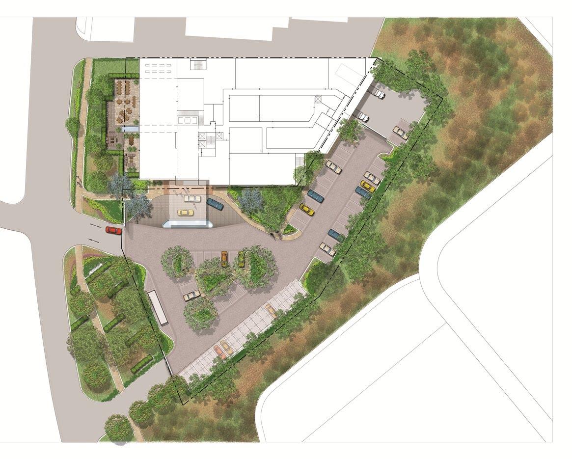 A personal folio rendering landscape design for hotel for Hotel landscape design