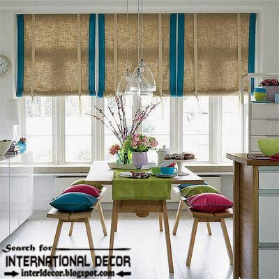 Contemporary dining room sets, ideas and furniture 2015, window blinds
