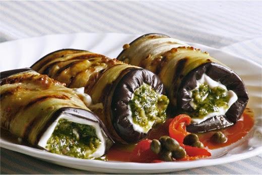 Eggplant Pesto Rolls