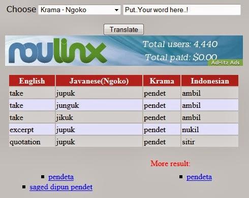 Kamus bahasa jawa lengkap online