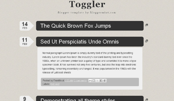 Best Accordion Blogger Templates