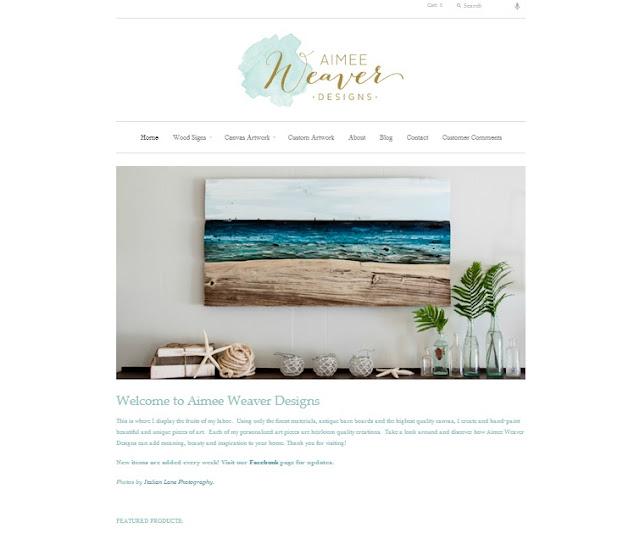 My pink life website re design for Aimee weaver blogspot