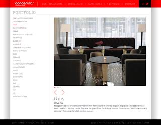 Portfolio page and slideshow