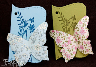 Stampin' Up! Top Note Butterfly Tags