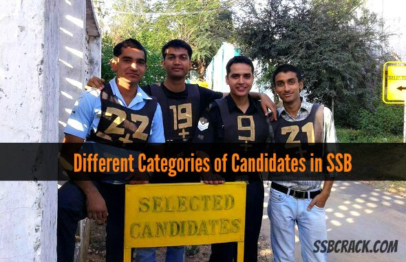 Different Categories of Candidates in SSB