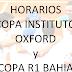 Horarios Copa Instituto Oxford y R1 Bahía 2013 - Sábado 14 y Domingo 15