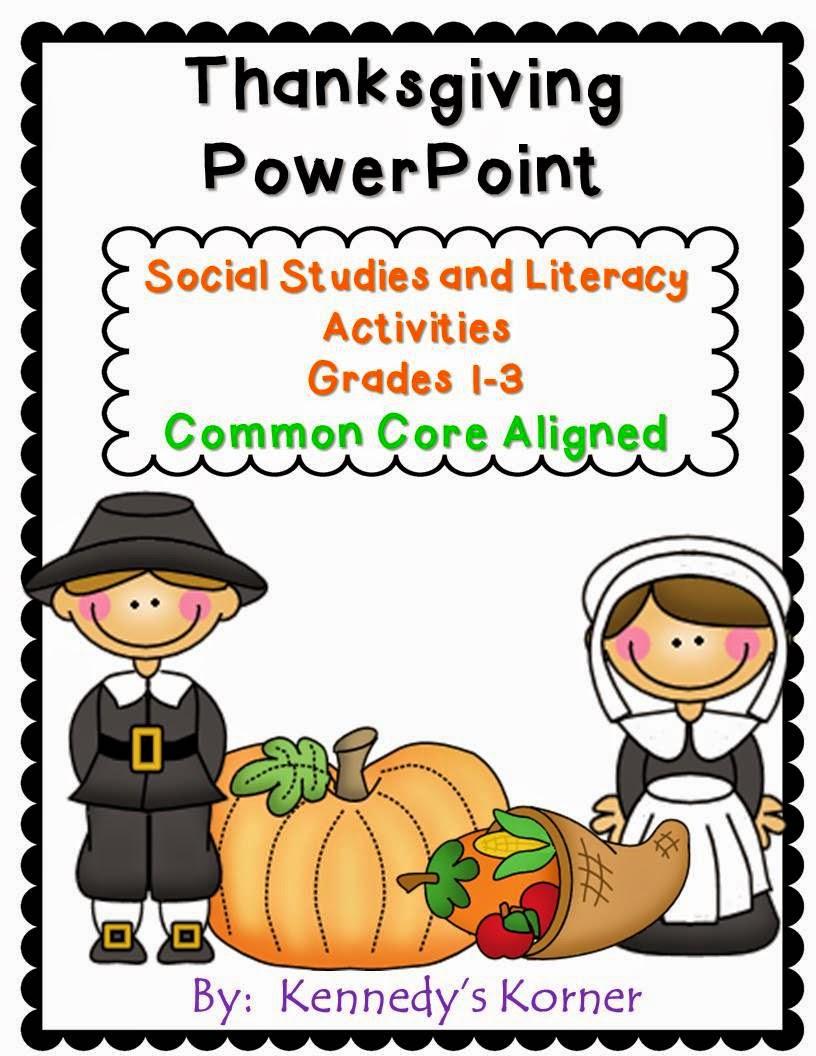 http://www.teacherspayteachers.com/Product/Thanksgiving-Power-Point-Social-Studies-and-Literacy-Grades-1-3-903540