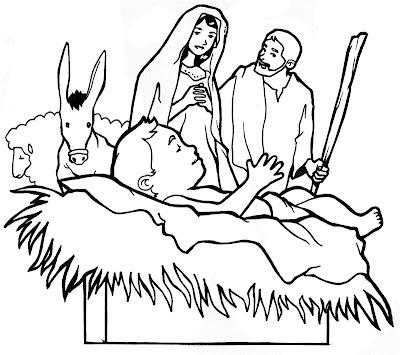 Dibujos cristianos de navidad pesebre para colorear - Dibujos para pintar navidad ...