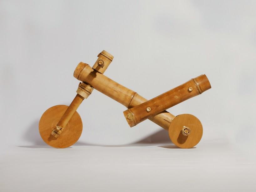 Triciclo en Bambu, Juguetes Sostenibles