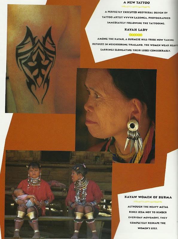 women wear heavy earrings that stretch their ear lobes considerably title=