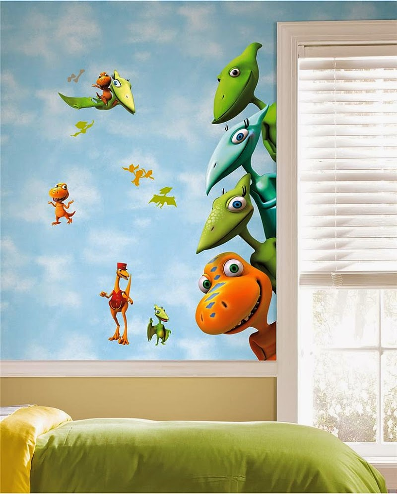 Dormitorio de ni os decorado con dinosaurios arte en las for Cuartos para ninos sims 4