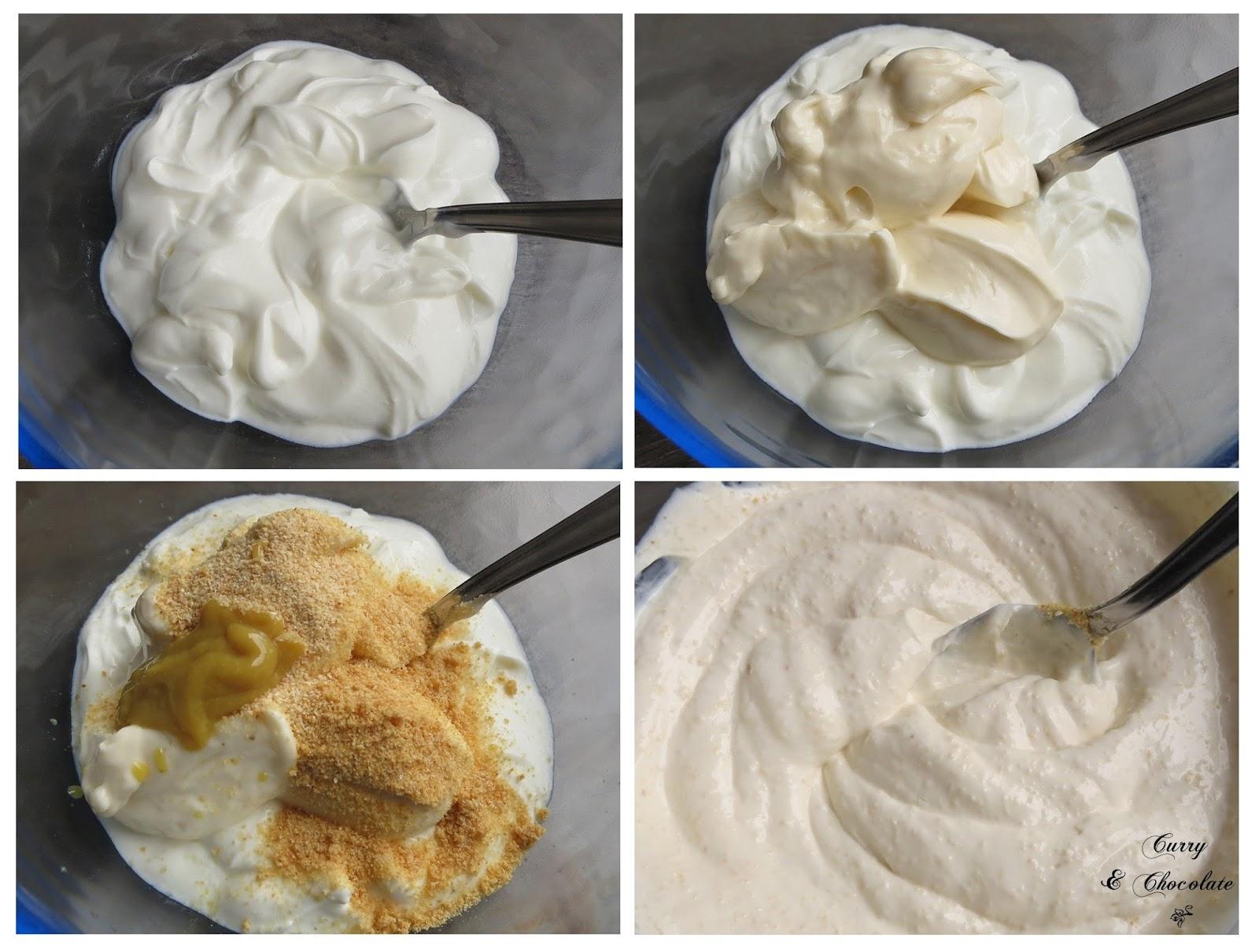Preparando la salsa de yogur