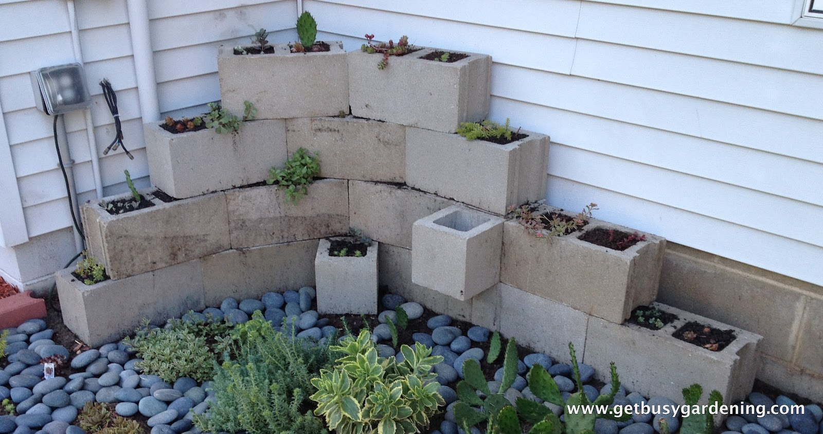 Planter Made Out Of Concrete Blocks