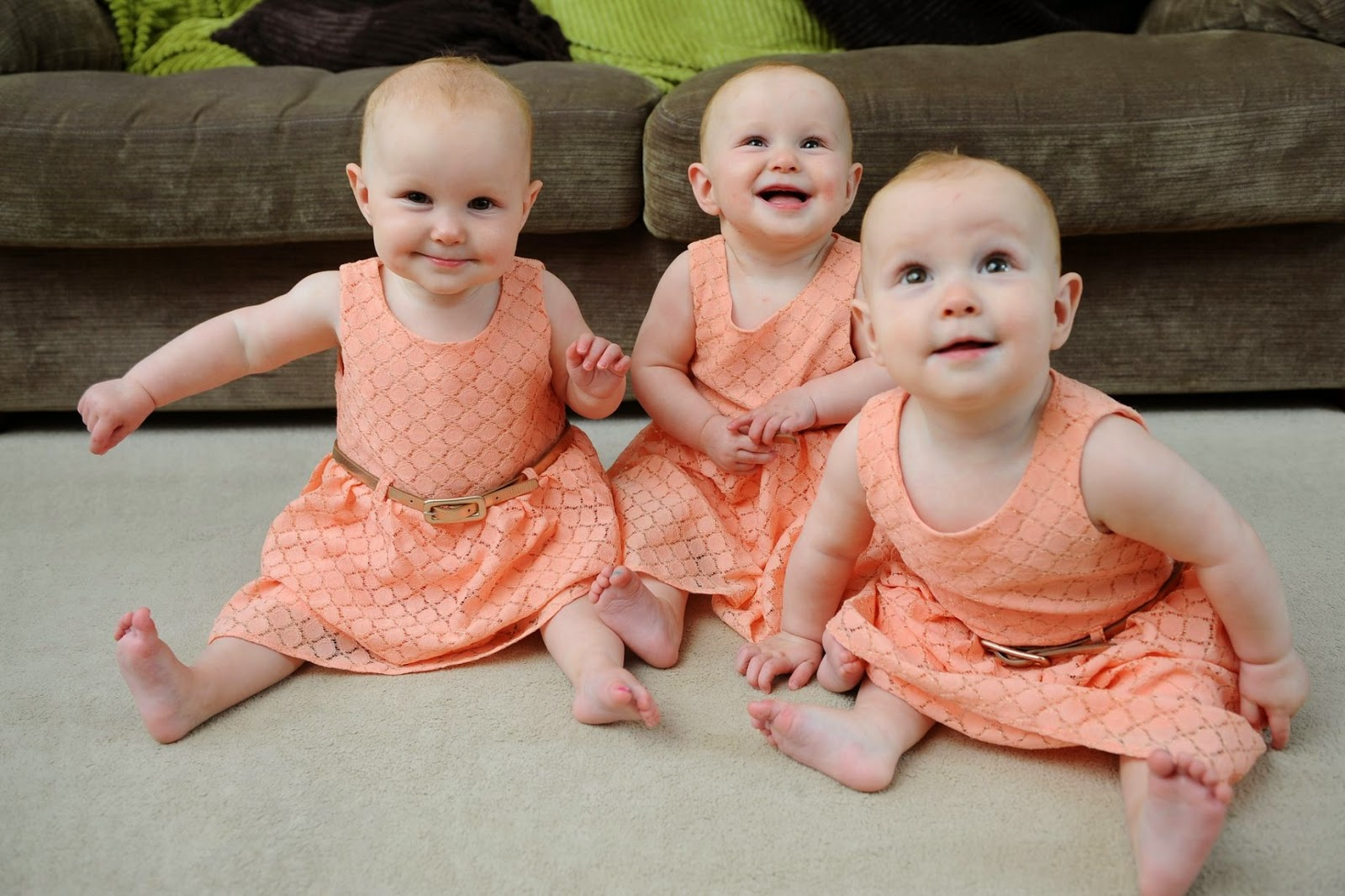 Identical Triplets Have Their Toenails Painted Different
