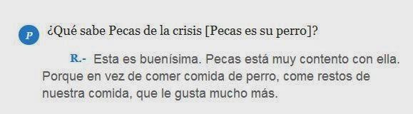 Esperanza Aguirre diciendo idioteces sobre su perro