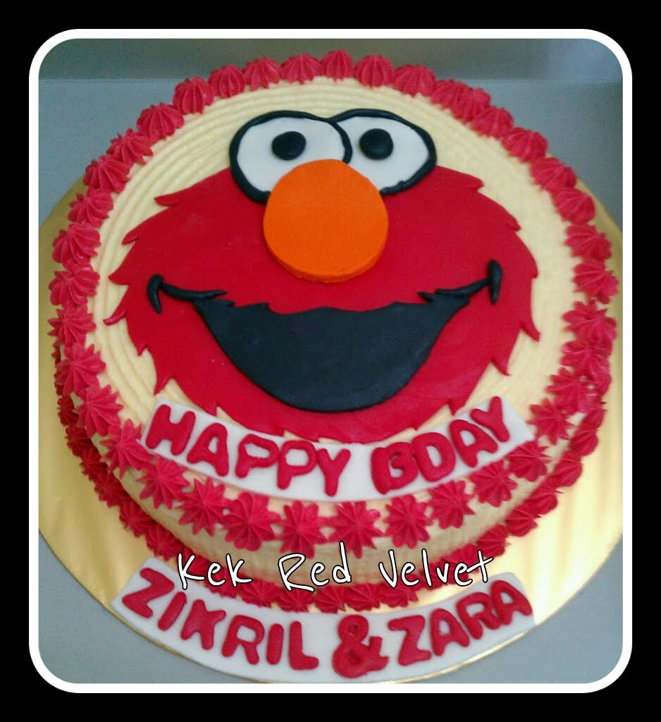 Zairie Homemade Delights: Red velvet with Elmo Face