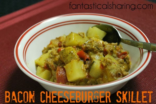 Bacon Cheeseburger Skillet | A tasty (ugly) skillet with all the ...