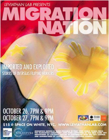 Leviathan Lab Celebrates Filipino-American History Month with MIGRATION NATION, 10/26-27