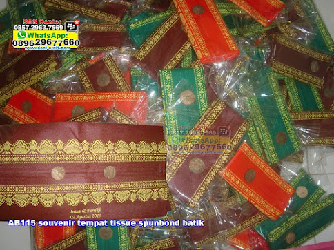 souvenir tempat tissue spunbond batik jual
