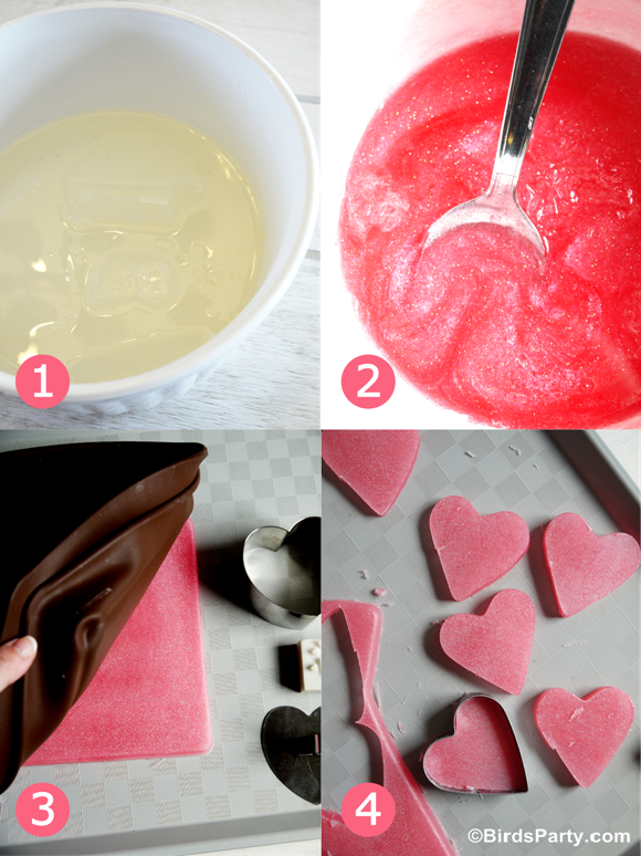 Easy DIY and Sprakly Heart Soap