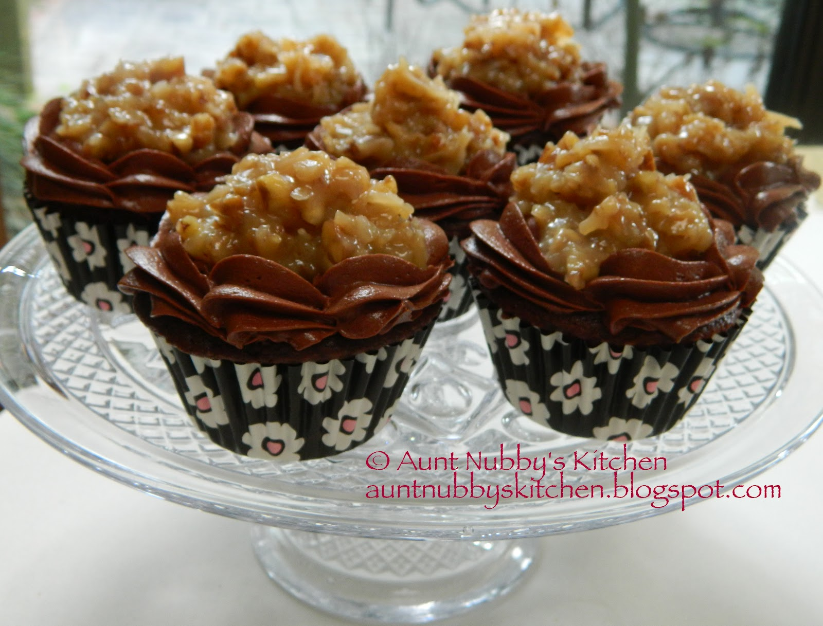 Sugar Spice and Spilled Milk: German Chocolate Cupcakes