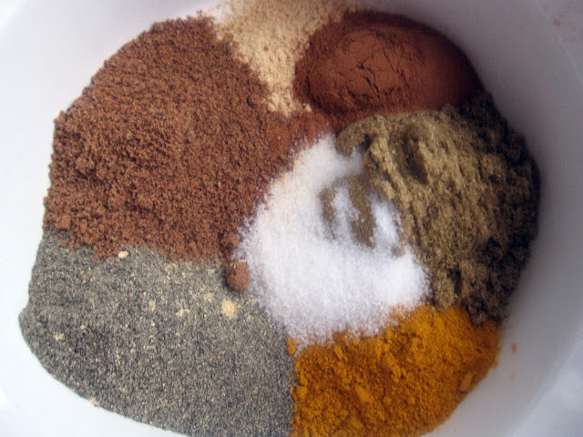 Spices for Pumpkin Coconut Curry with Meatballs