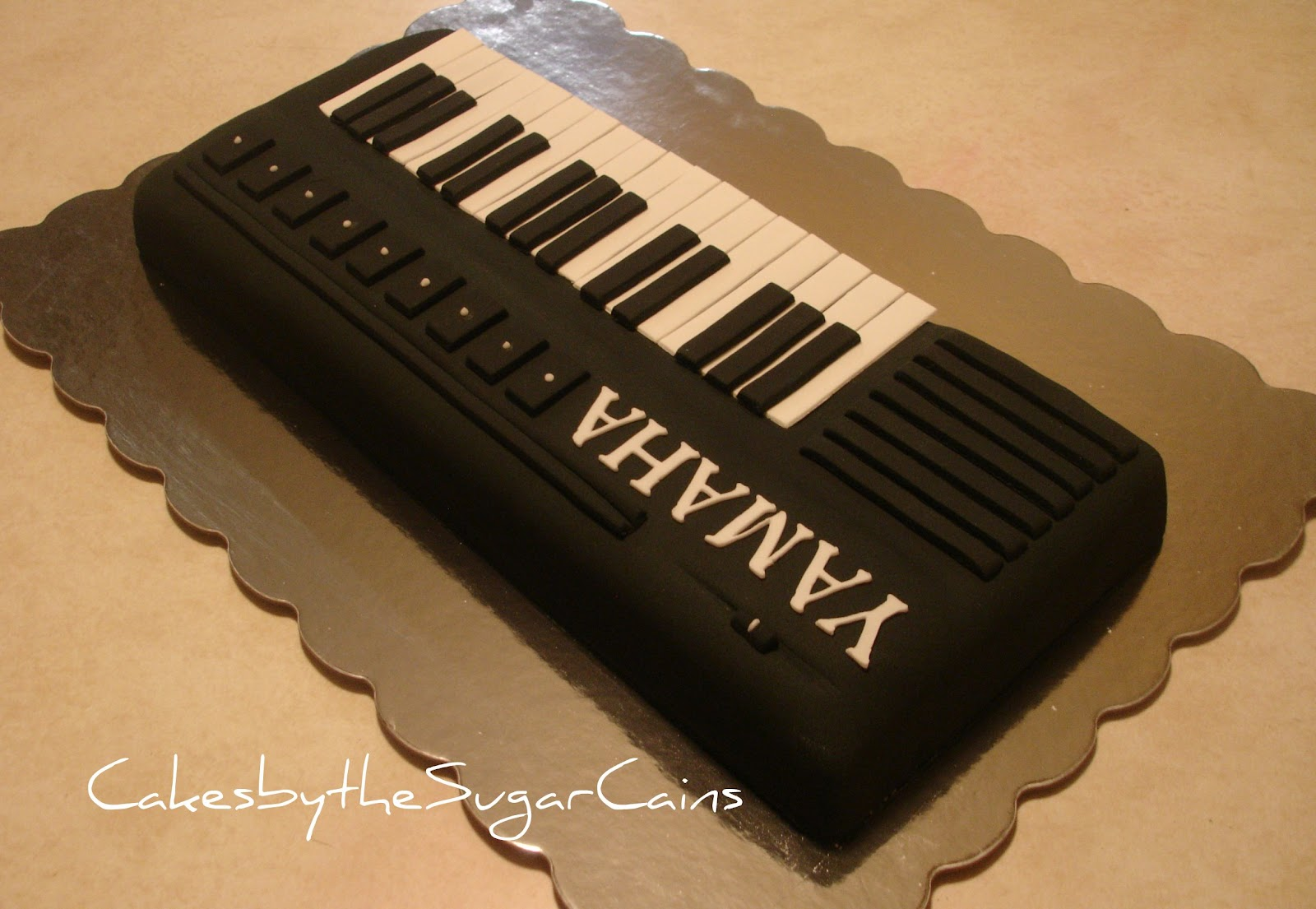 Birthday Cake Made Out Of Keyboard Letters