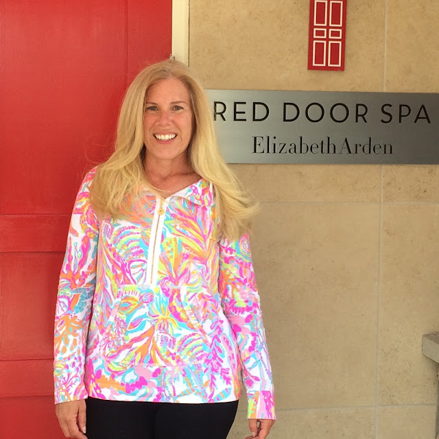red door spa maryland preppy blogger olaplex lilly pulitzer popover